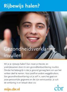 flyer Gzondheids Verklaring rijbewijs
